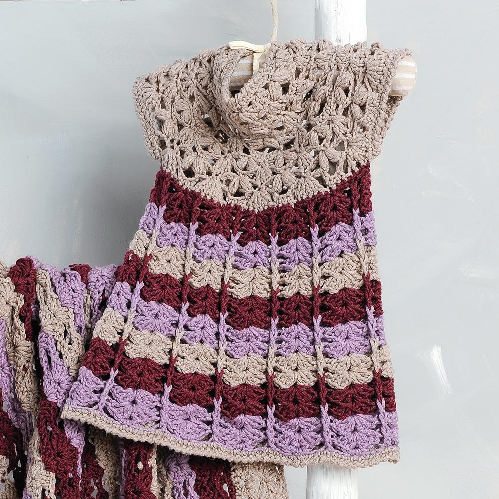 платье с ажурным узором ракушки схема вязания крючком вяжем