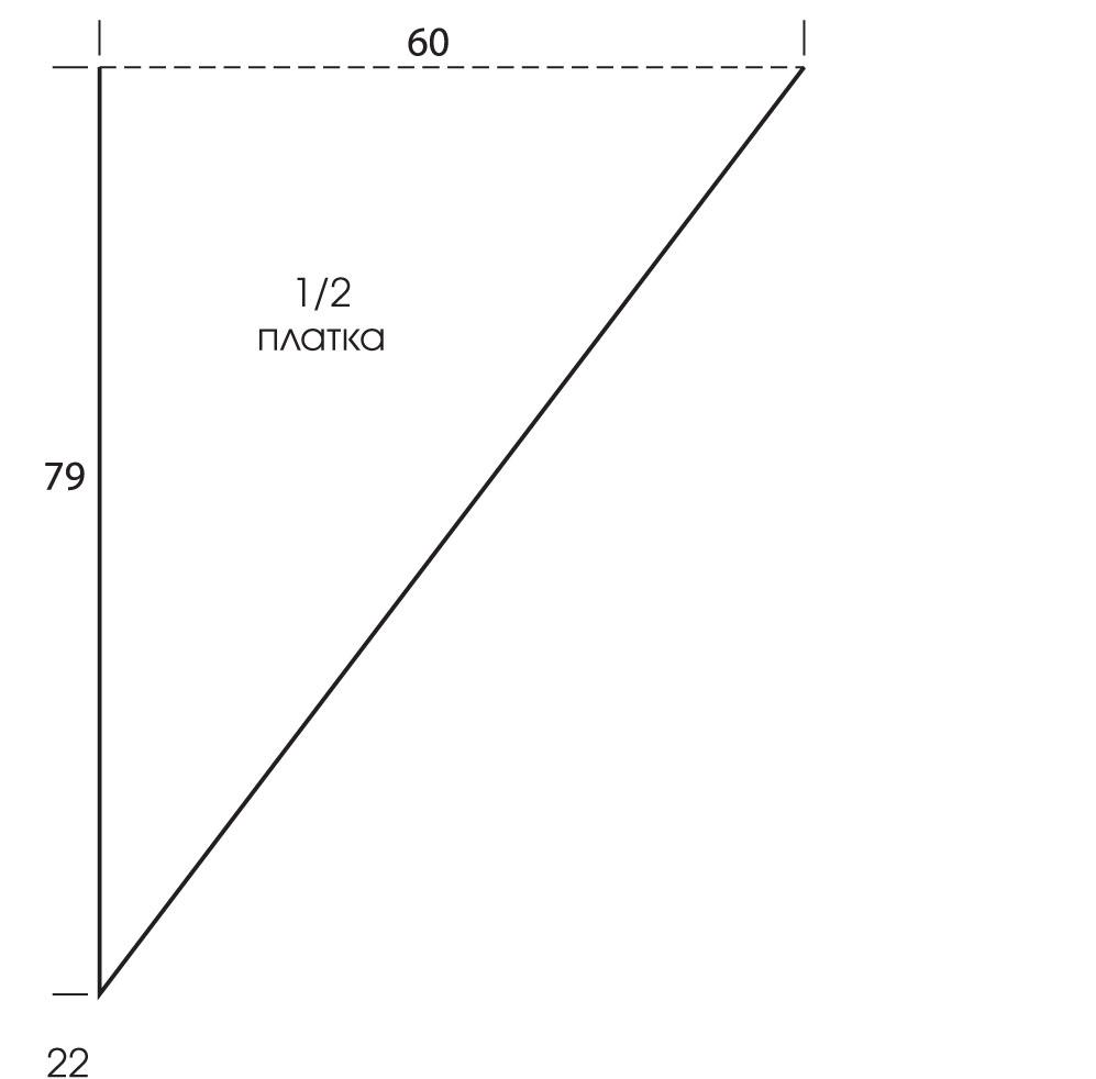 шаль узором ромбы крючком схема