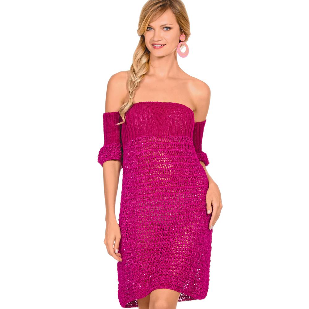 Ажурное платье с открытыми плечами