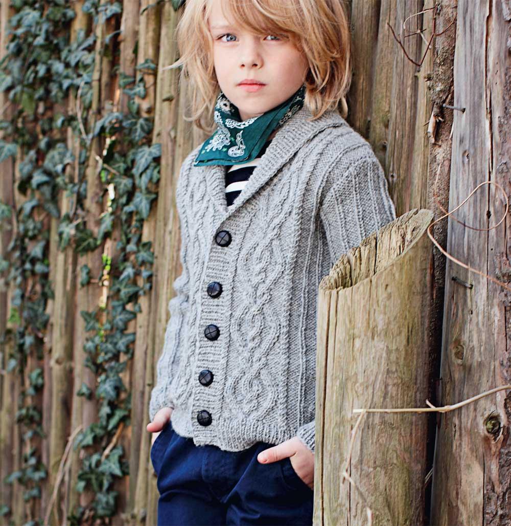 схема вязания спицами свитера для мальчиков