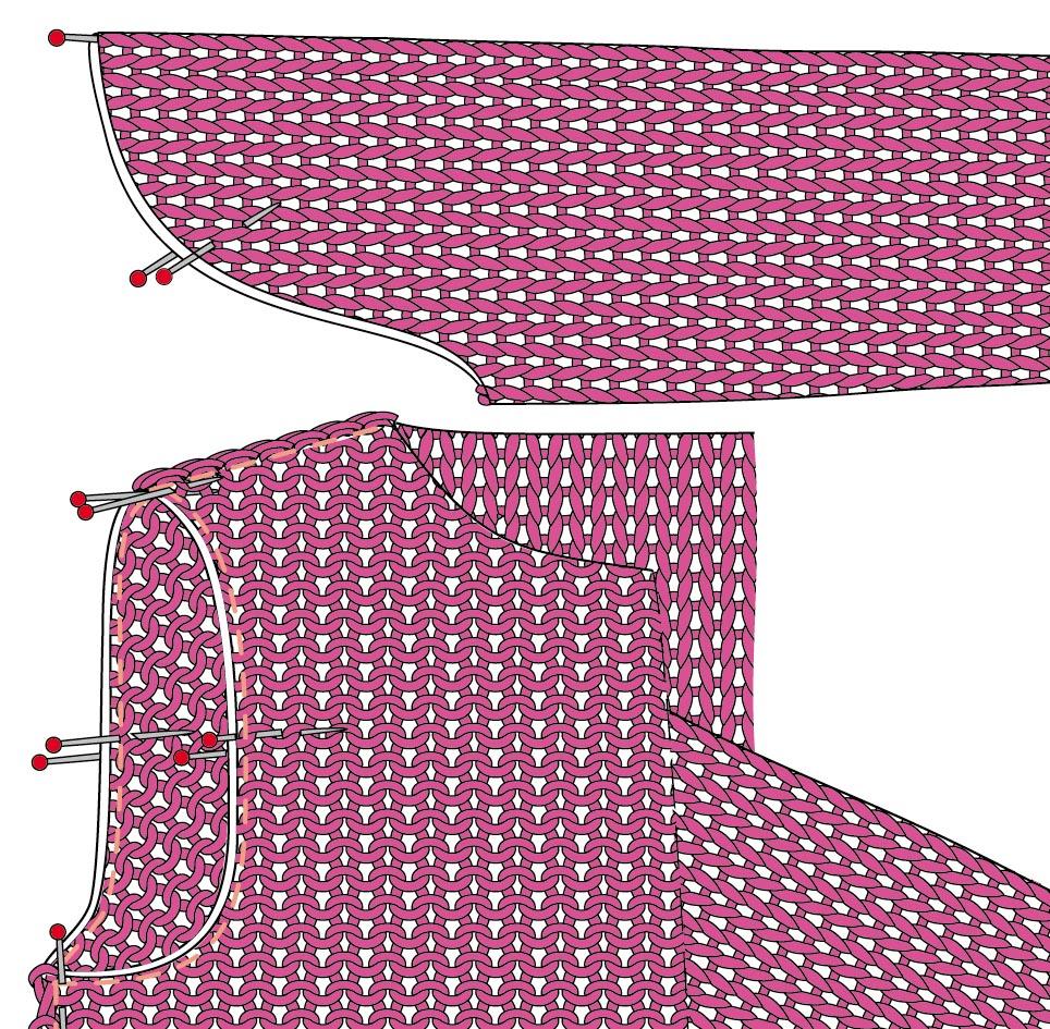 как вшить рукава в вязаное изделие схема вязания спицами вяжем