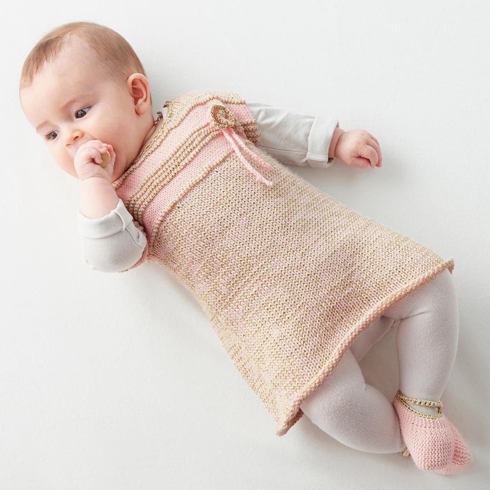 платье для новорожденной схема вязания спицами вяжем платья на