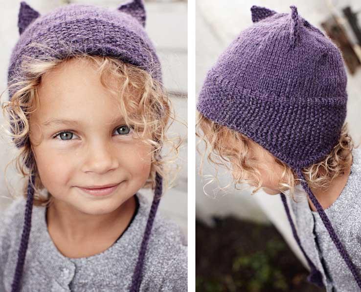 Вязание шапки с ушками спицами для начинающих