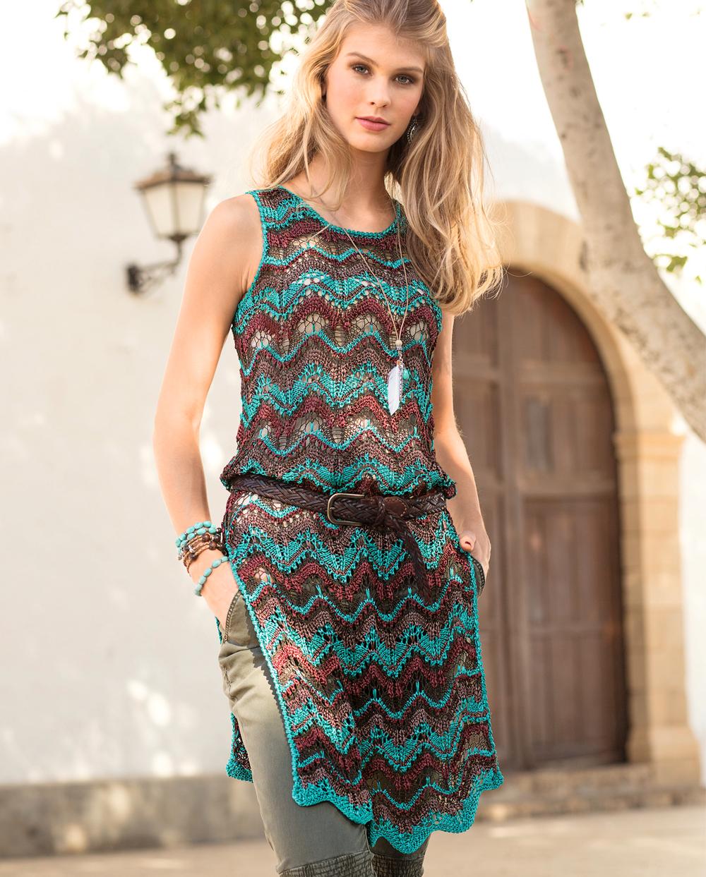 Схемы вязания туник и платьев каталог