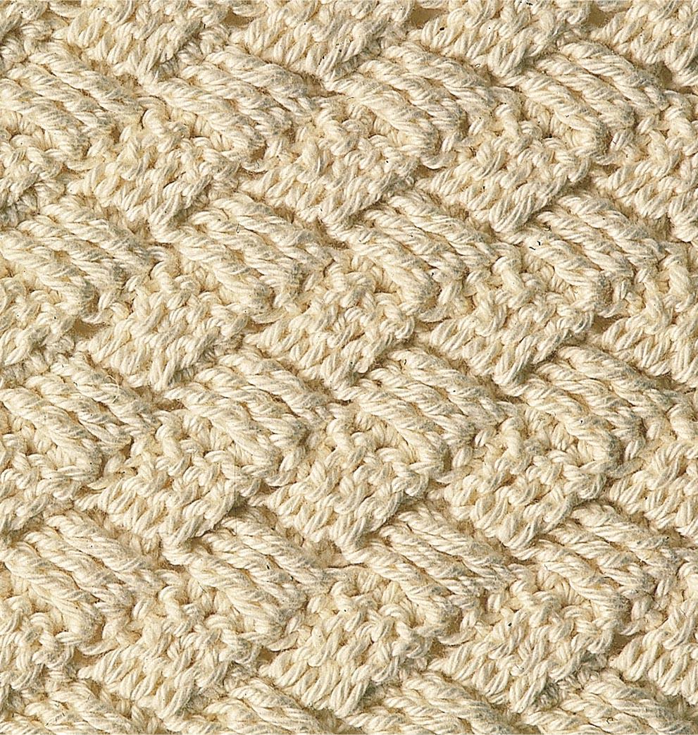 Плетеный узор крючком