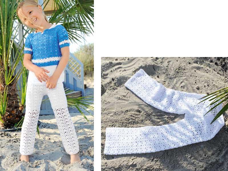 Белые брюки для девочки
