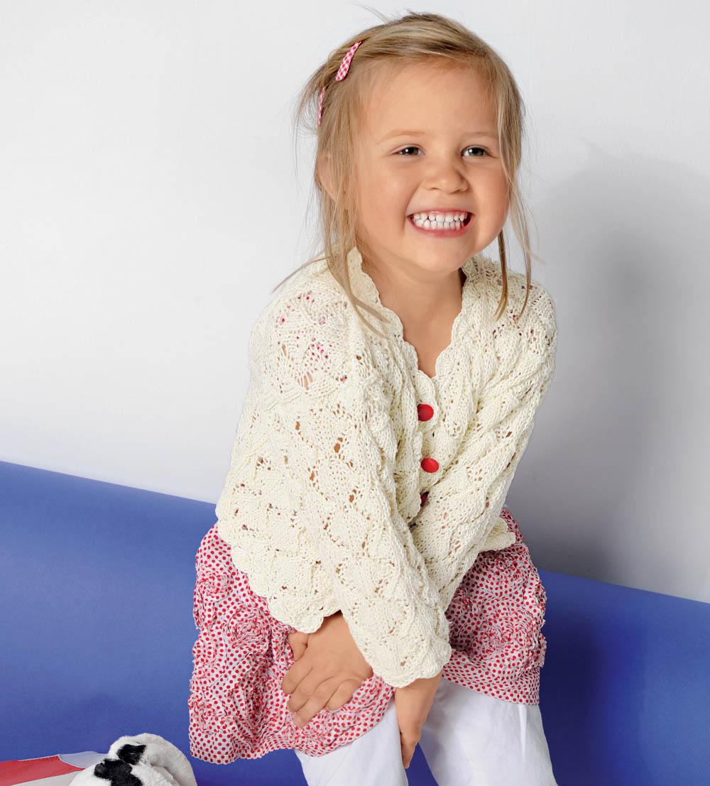 вязание кофточки для девочки спицами схемы