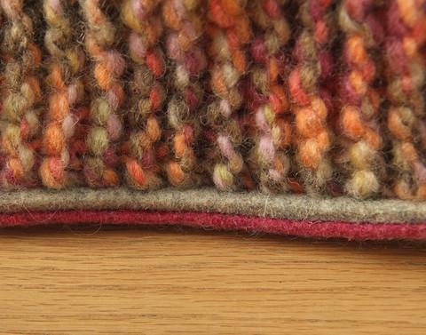 Вязание тапочек на войлочной подошве спицами