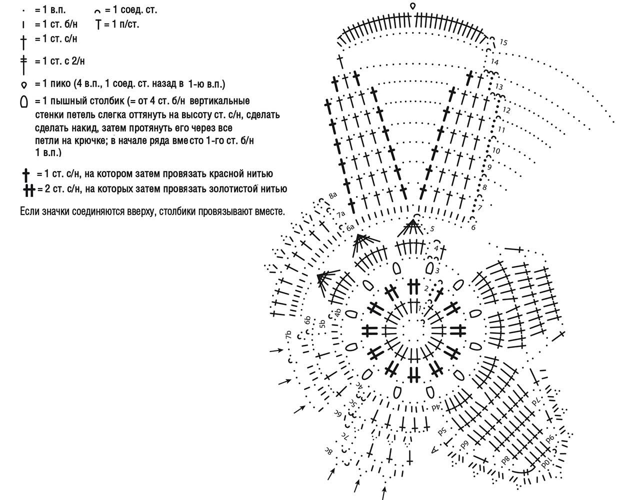 схема вязки звездочки