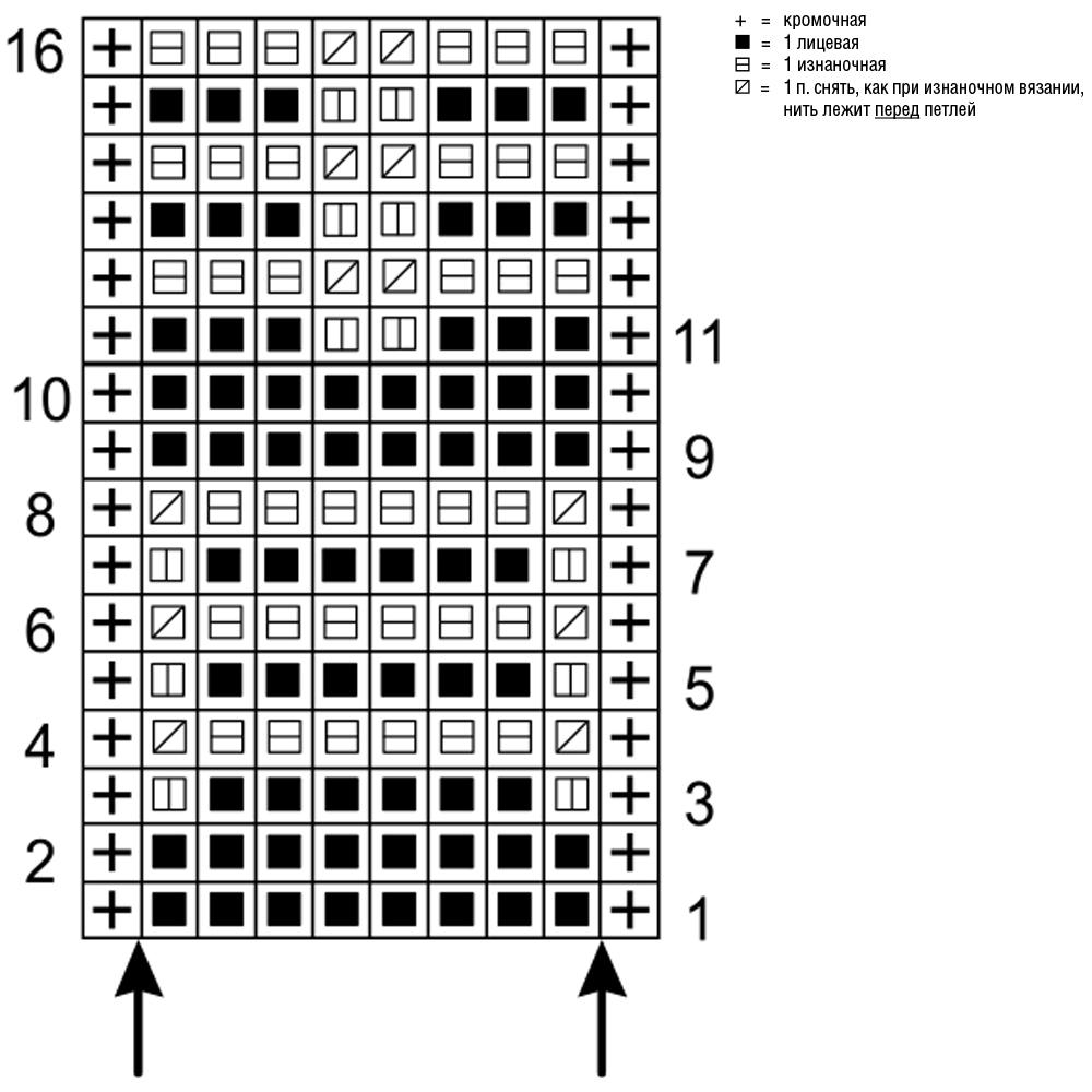 схема к узору соты
