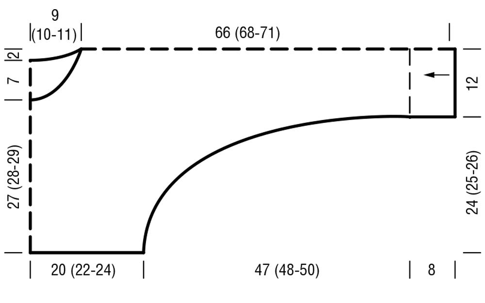 Свитер в вертикальную полоску