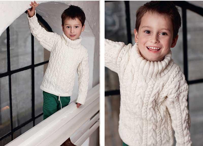 свитер для мальчика с косами схема вязания спицами вяжем свитеры