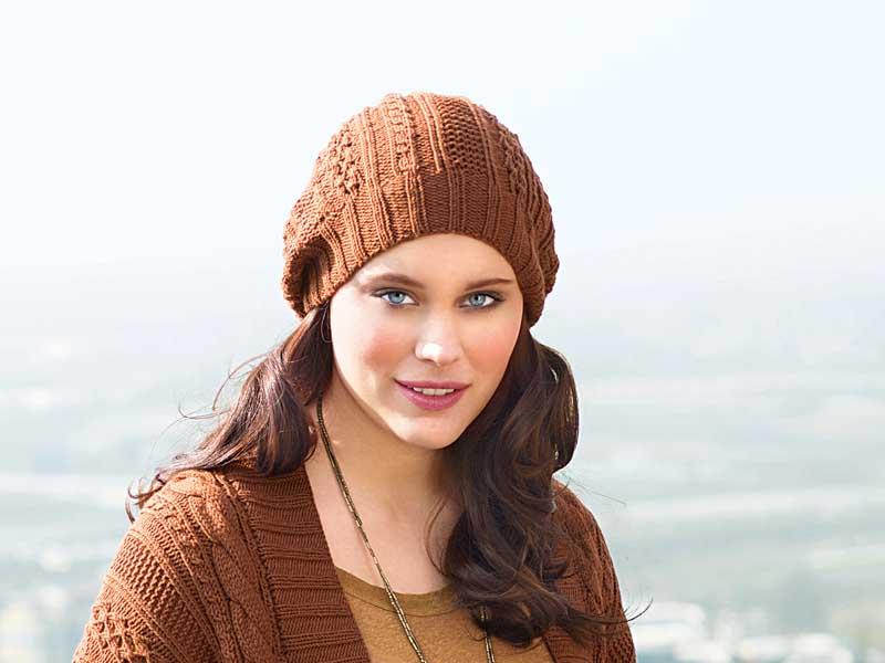 коричневая шапочка схема вязания спицами вяжем шапки на Verenaru