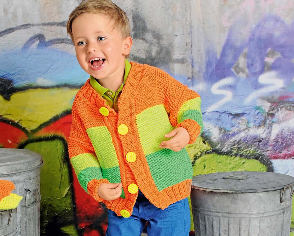 схема вязания детской кофточки на пуговицах