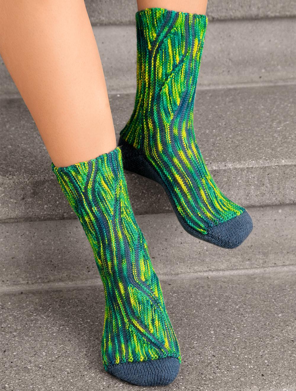 Носки в зеленой гамме