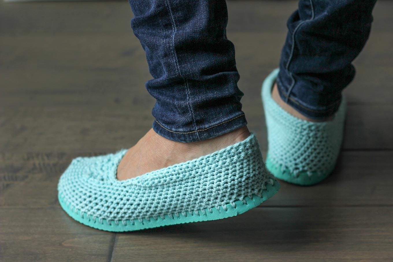 тапочки из вьетнамок схема вязания крючком вяжем обувь на Verenaru