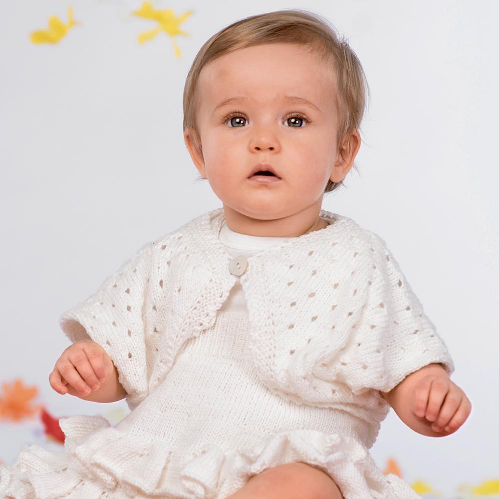 белое болеро для девочки схема вязания спицами вяжем болеро на