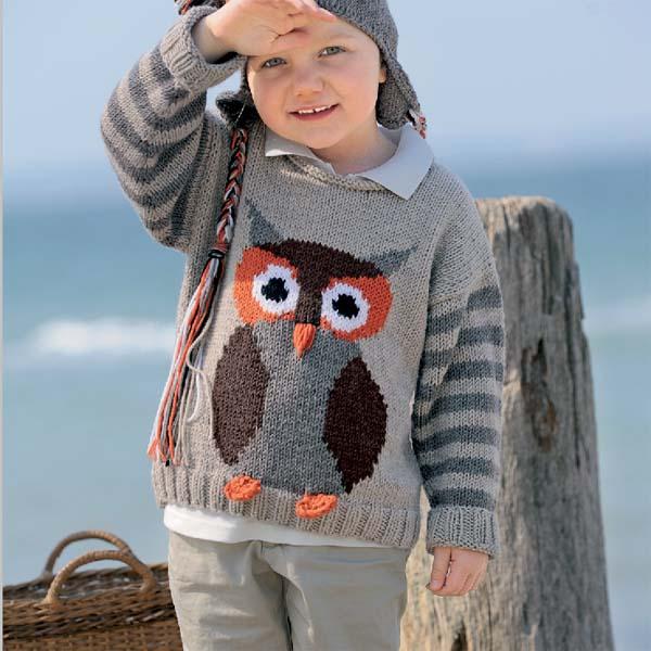 Схема сова на пуловер