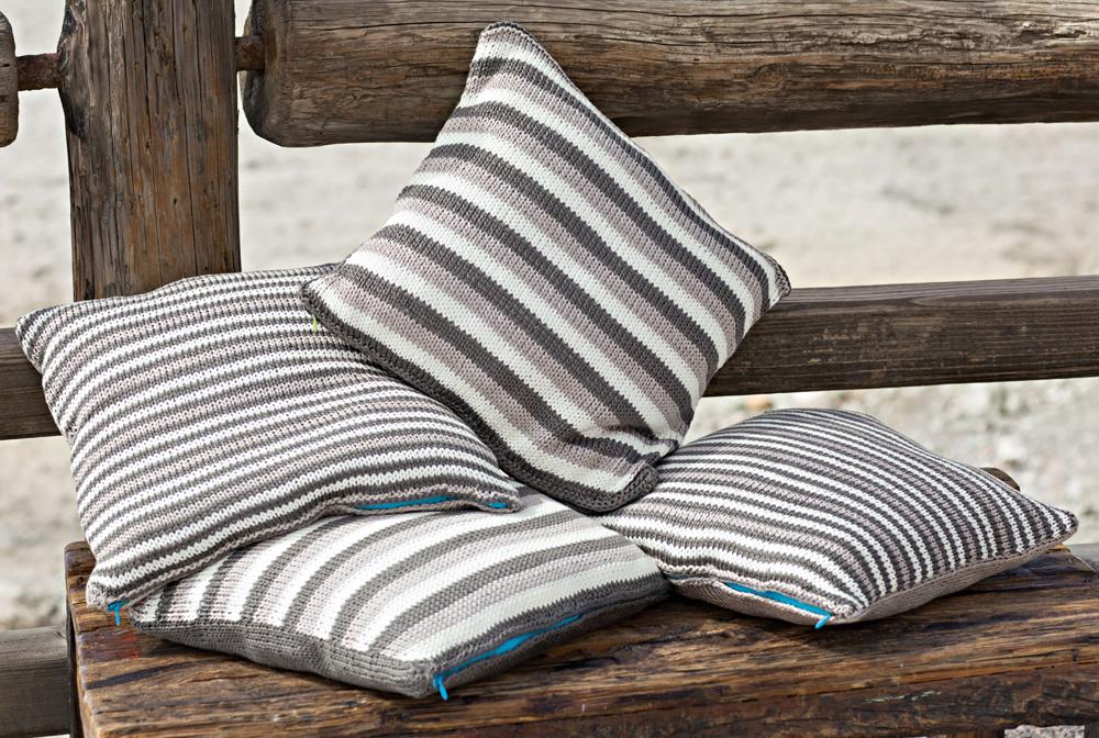 наволочки в полоску схема вязания спицами вяжем подушки на Verenaru