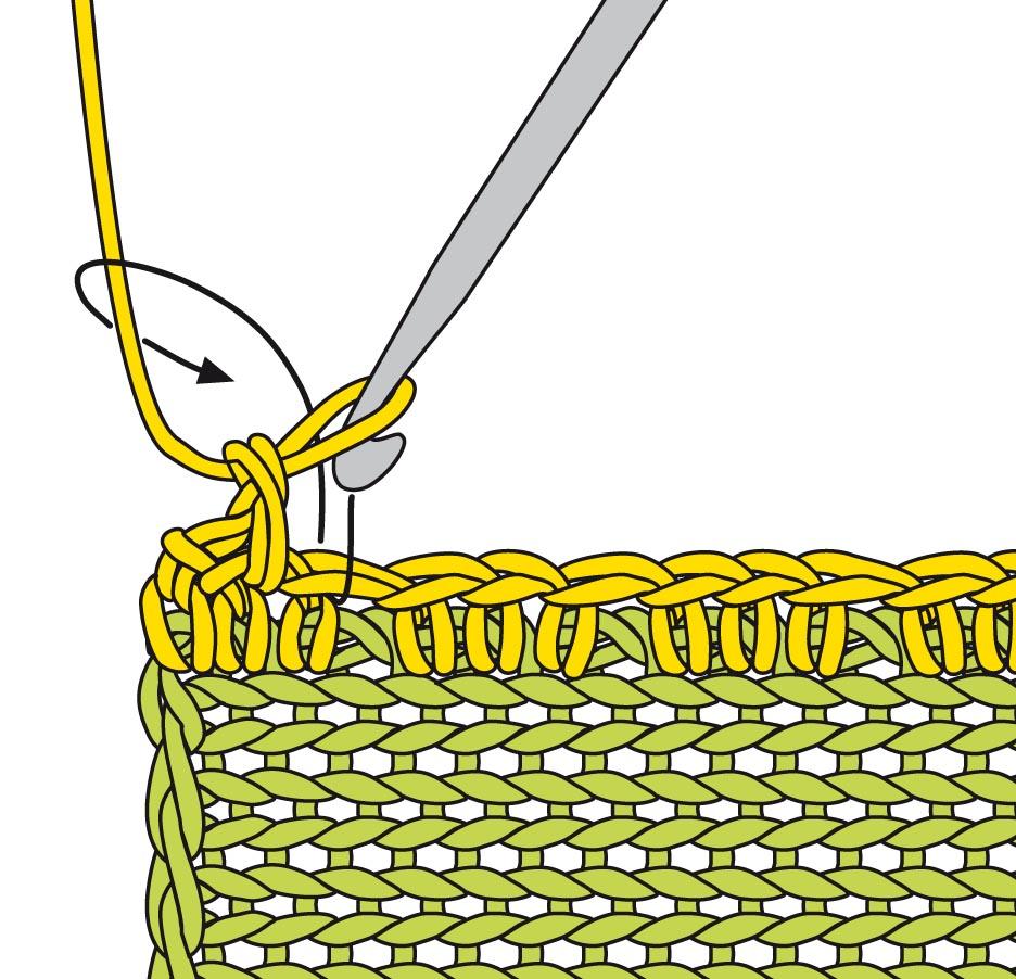 выполнение рачьего шага схема вязания крючком вяжем техника