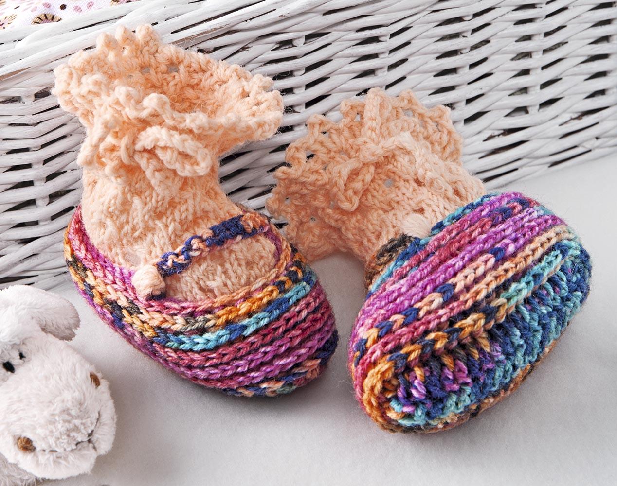 носочки с оборкой и пинетки балетки схема вязания крючком вяжем