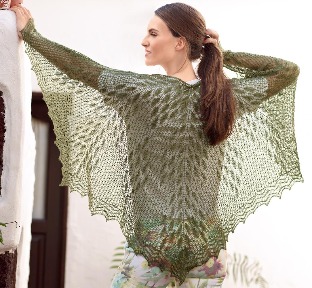 Ажурный узор для шалей и палантинов спицами. - Pinterest