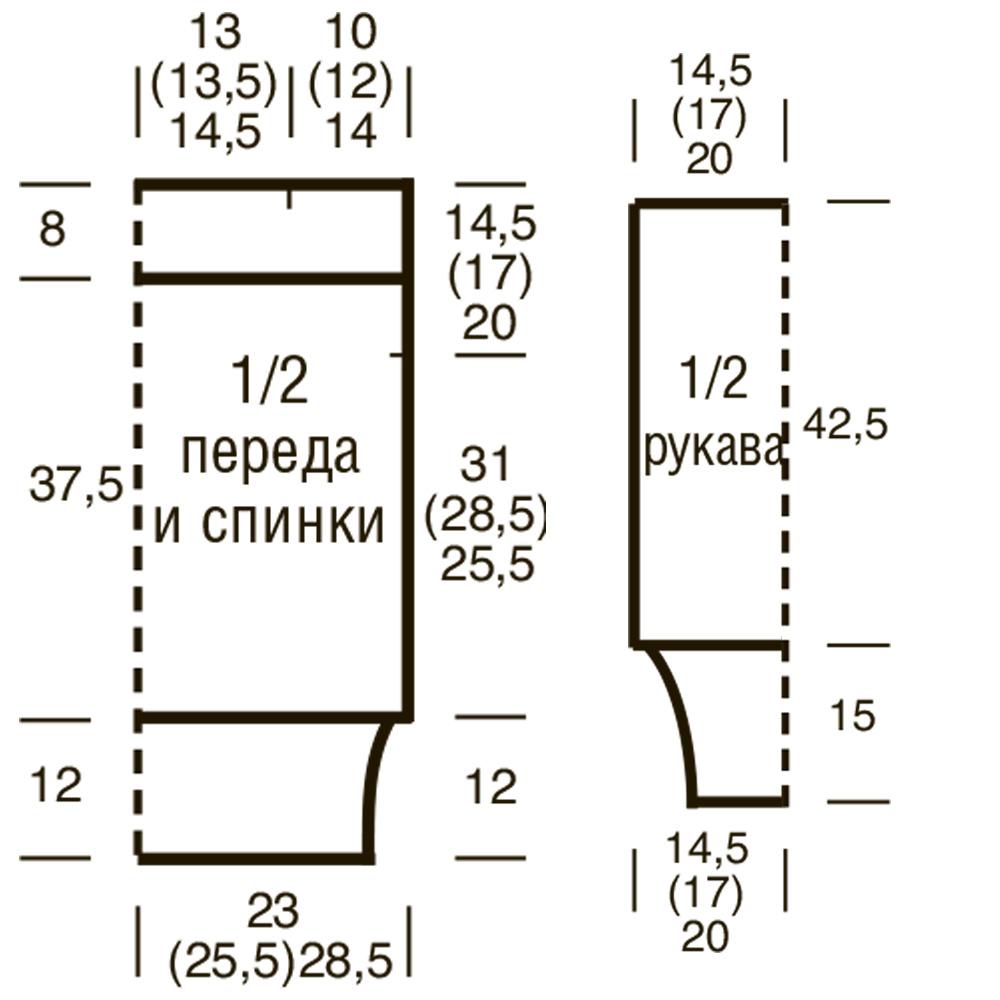 вязание планочки для горловины схема