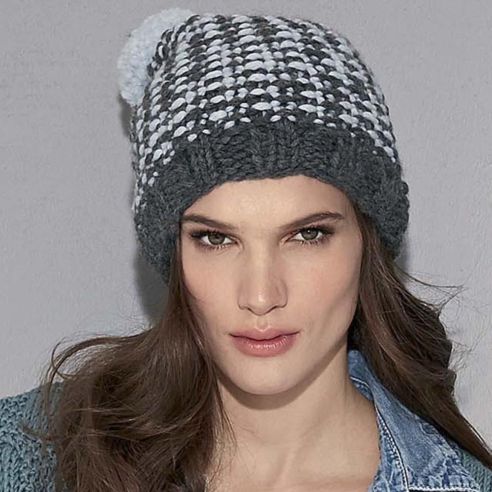 шапка в полоску схема вязания спицами вяжем шапки на Verenaru