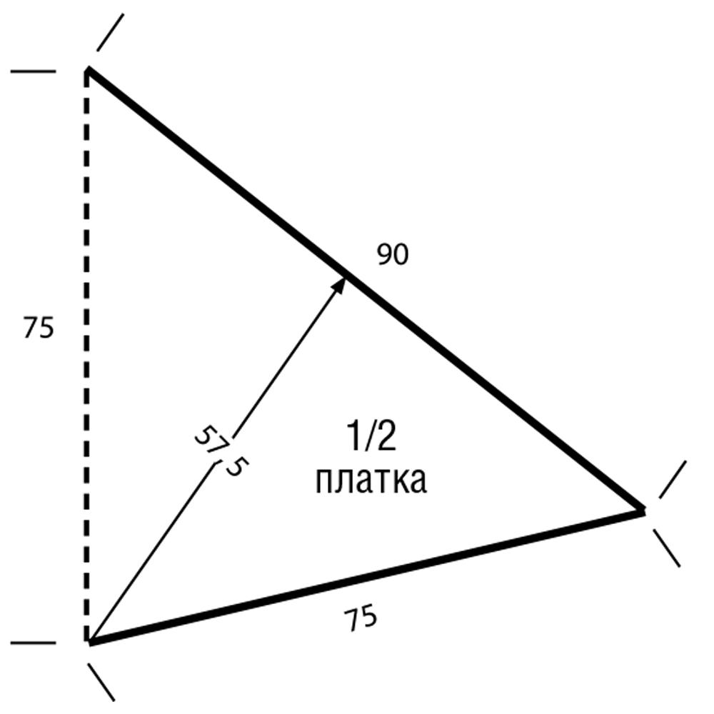 Треугольный платок с символом пацифизма