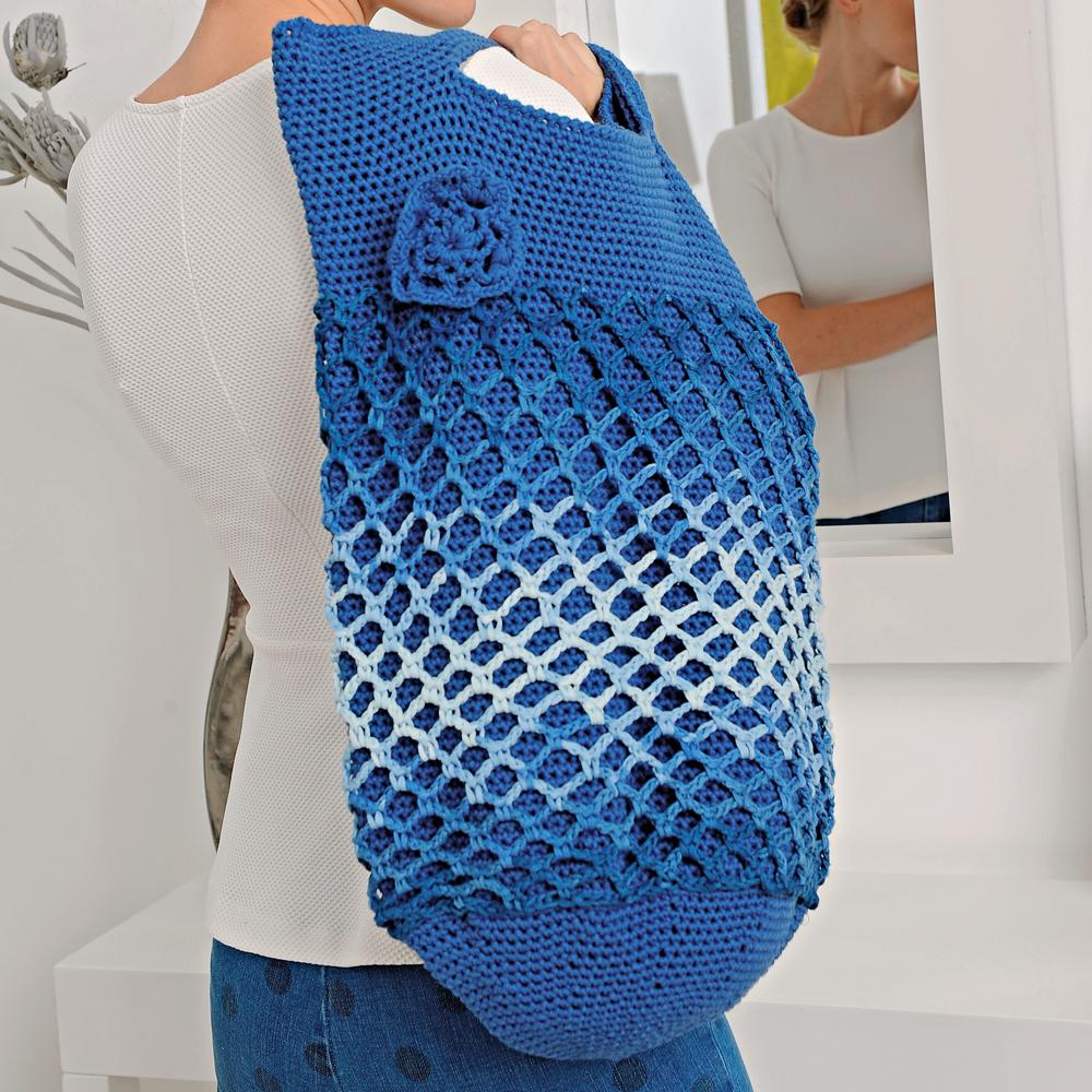 Сумка-мешок с ажурной сеткой