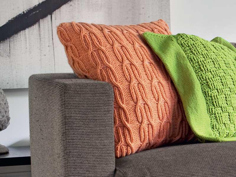 подушка с косами схема вязания спицами вяжем подушки на Verenaru