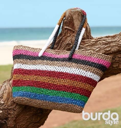 пляжные вязанные схема крючком сумки