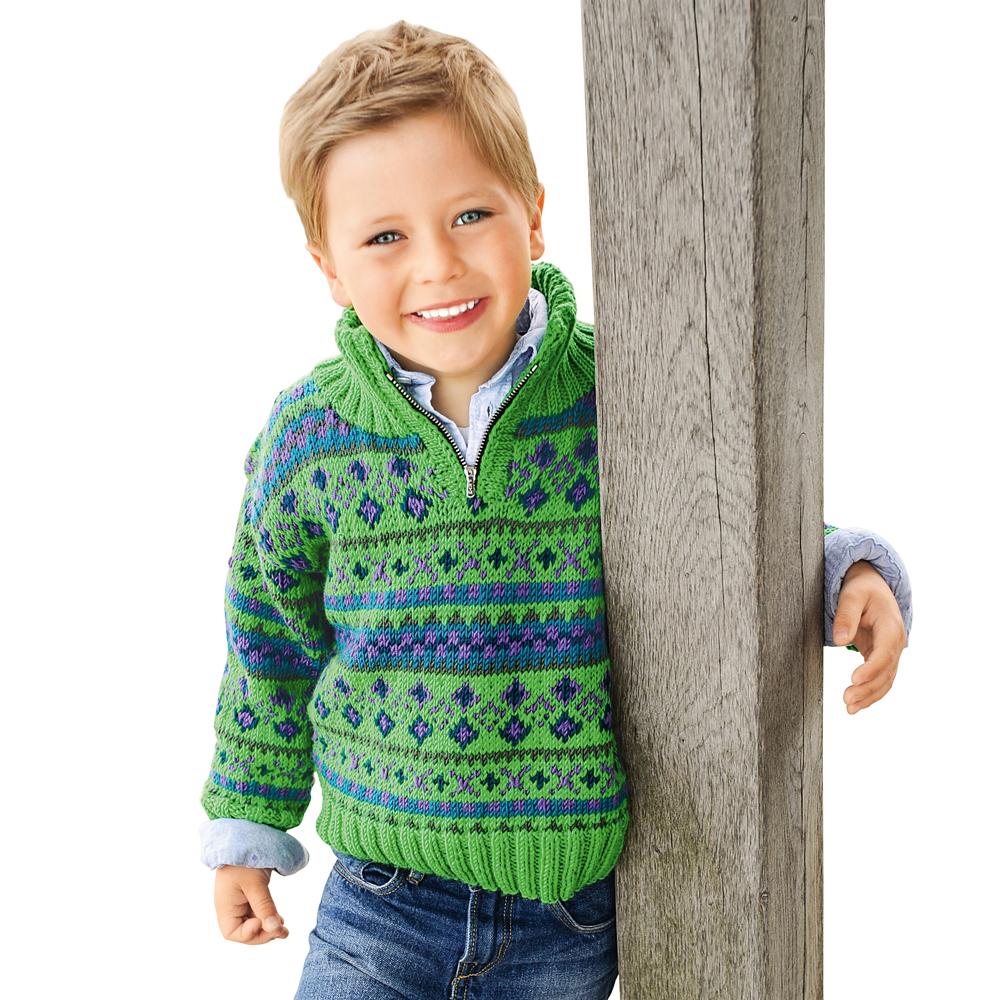 Пуловер лицевой гладью спицами с высокой манжетой