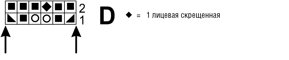 Асимметричный топ с ажурным узором
