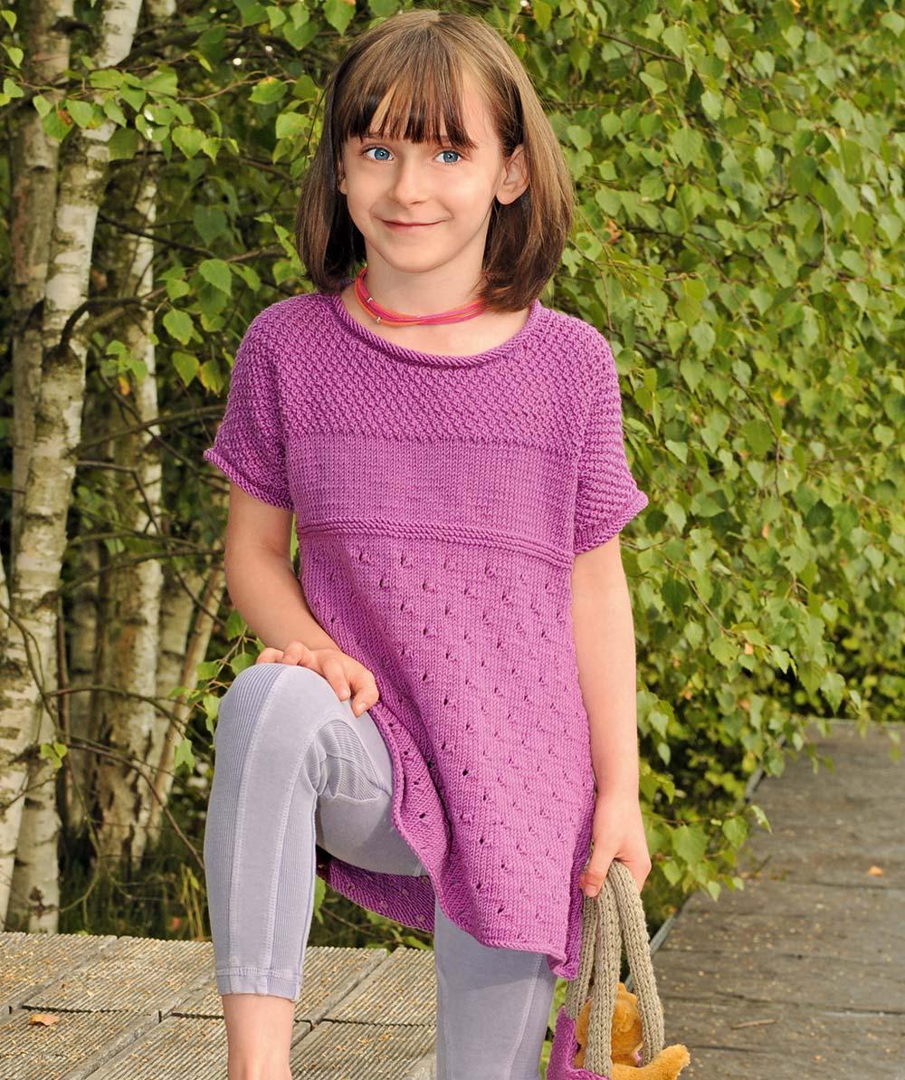 Туника с коротким рукавом для девочки