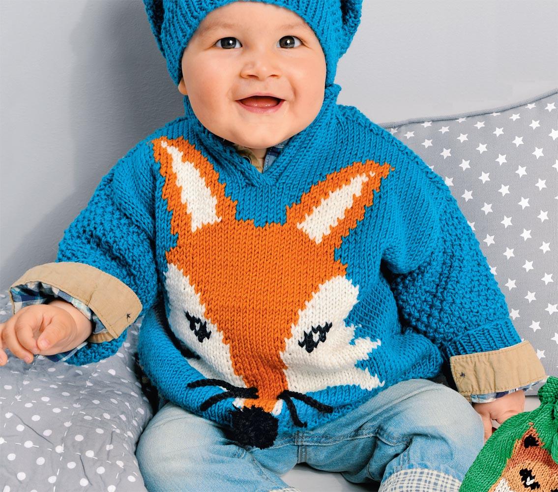 Пуловер с мотивом Лиса
