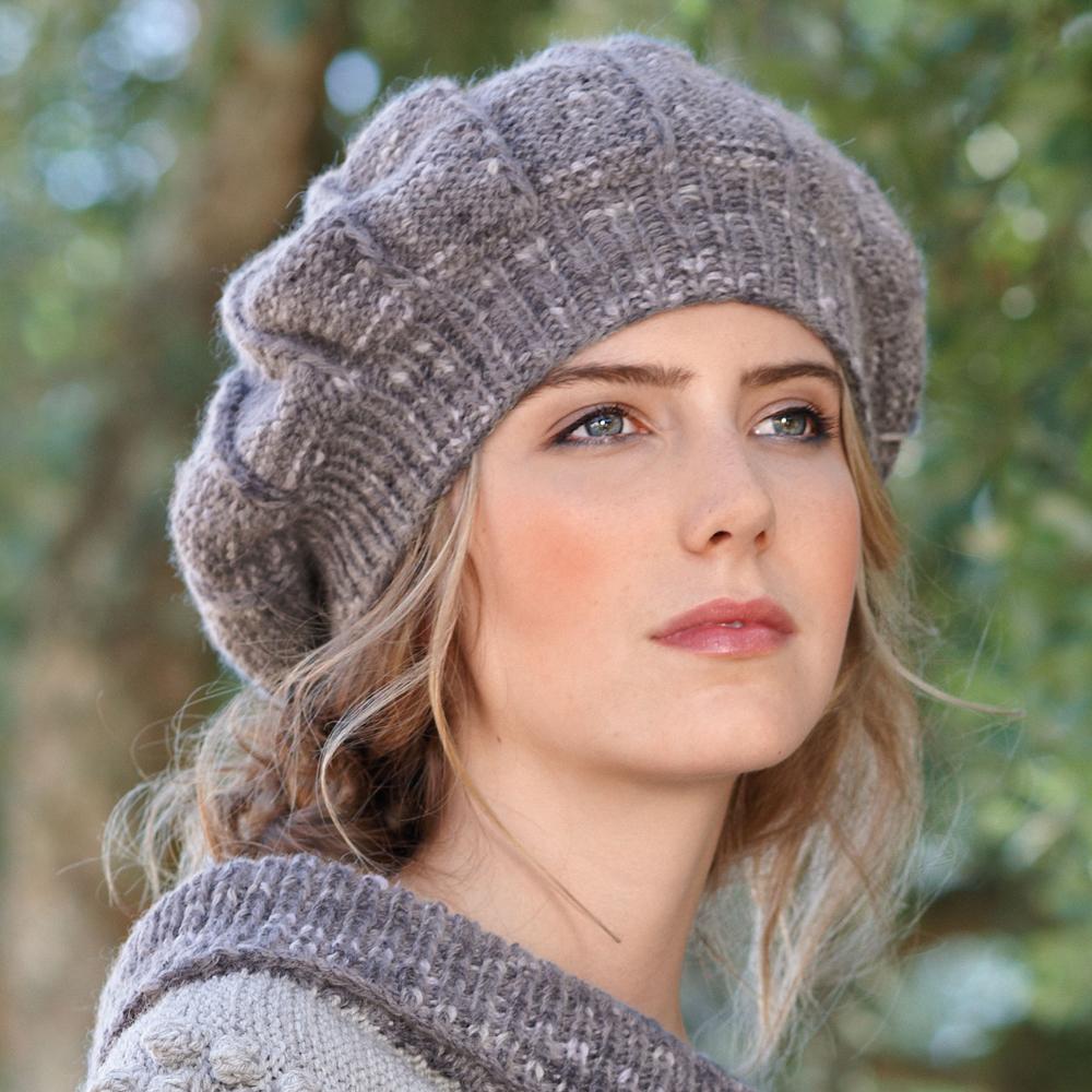 схема вязания береты и шапки на спицах