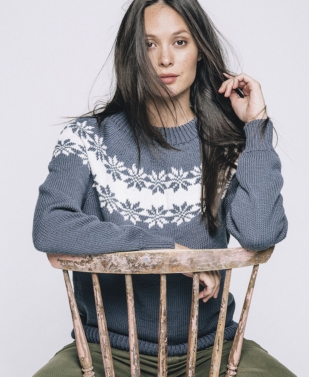 Пуловер с узором «Роза Сельбу»