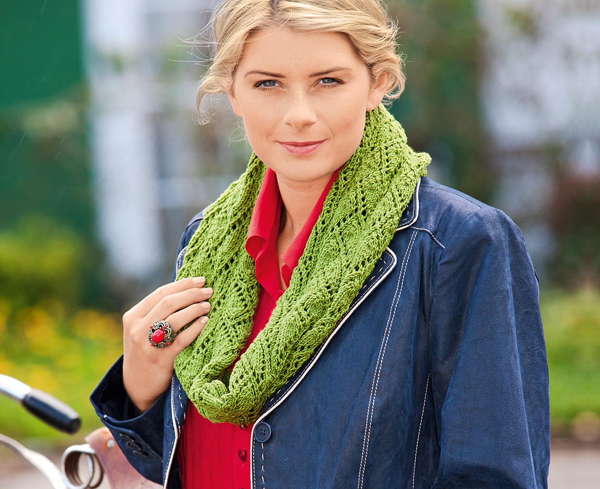 схема вязания шарфа осень