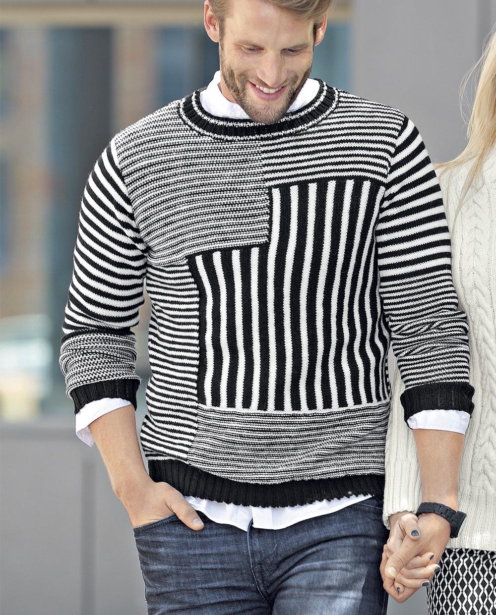 мужской свитер спицами схема 54 размера