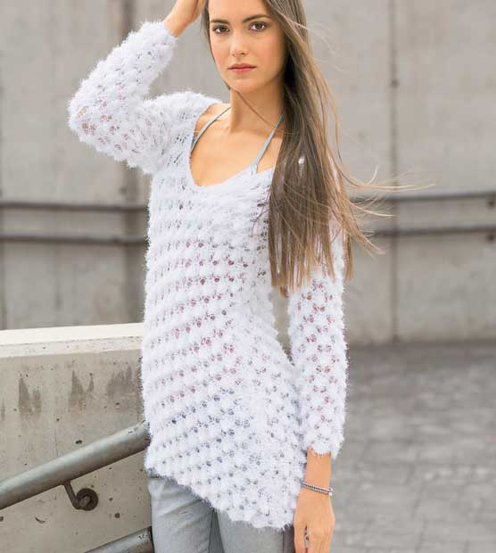 Асимметричный пуловер с