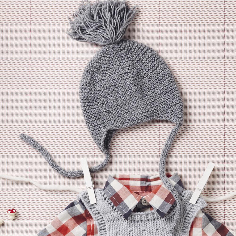 детская шапочка с помпоном схема вязания спицами вяжем шапки на