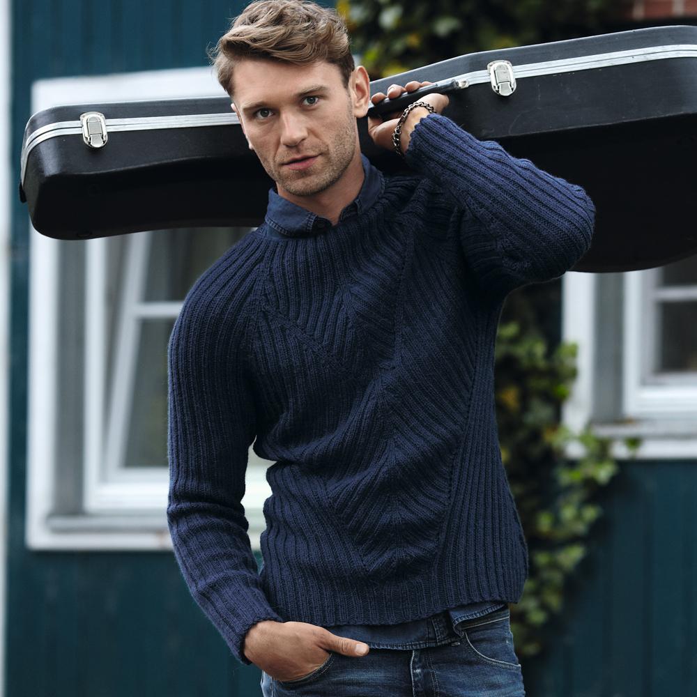 Вязание спицами мужской пуловер схема фото 783