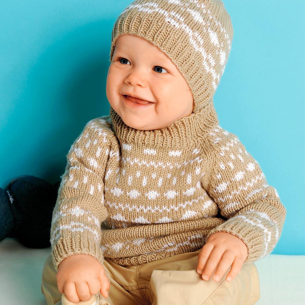 жаккардовый свитер для самых маленьких схема вязания спицами