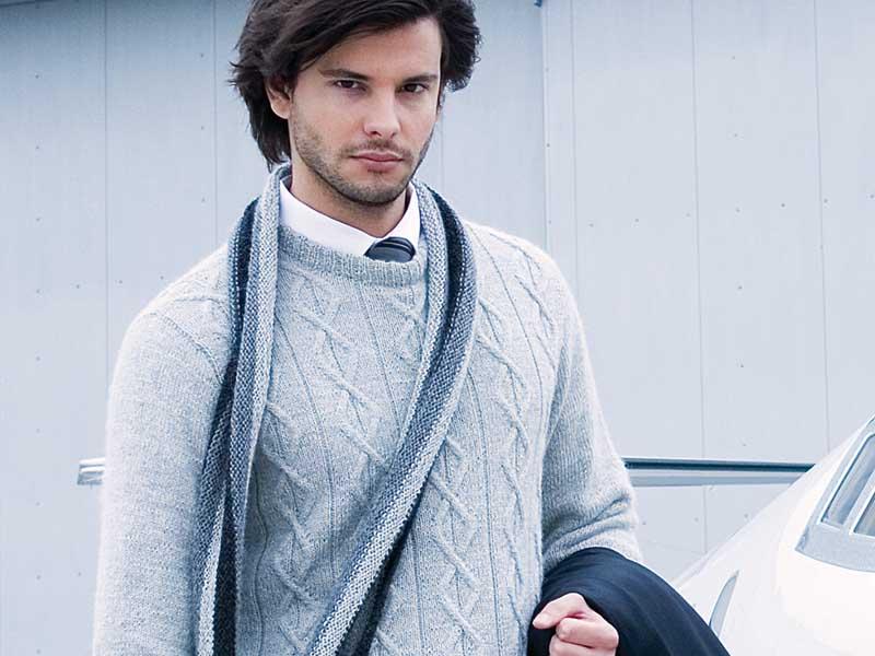 мужской шарф в полоску схема вязания спицами вяжем шарфы на Verenaru