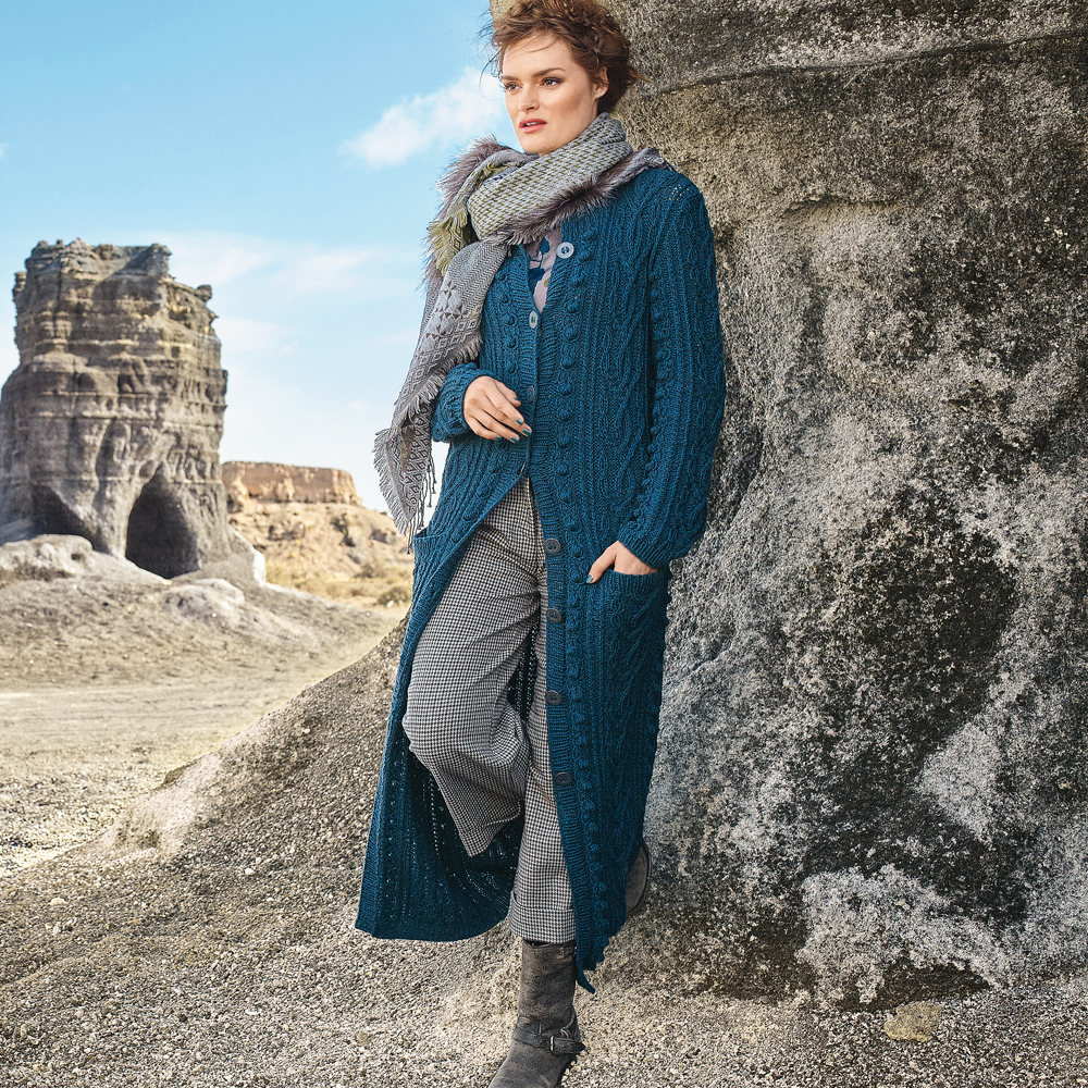 Пальто с рельефным узором