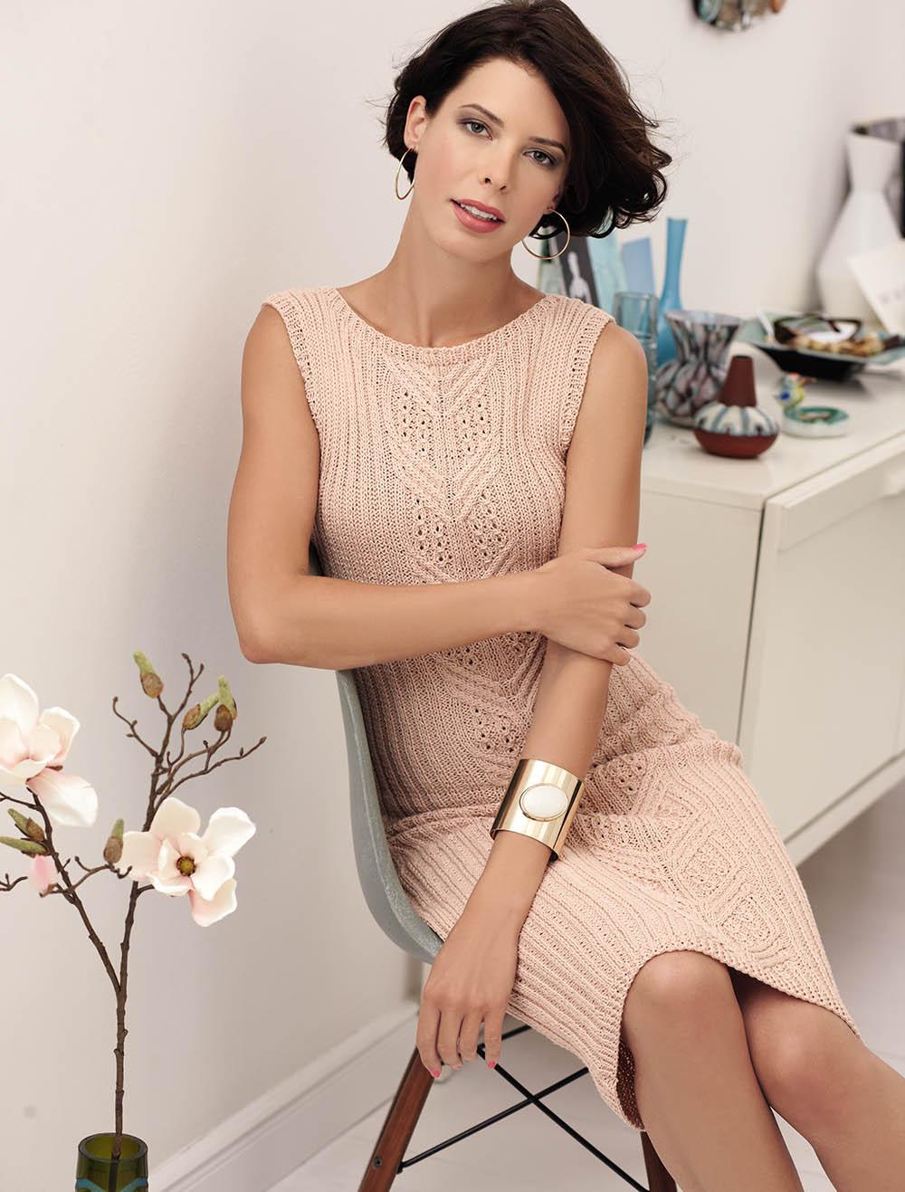 Облегающее платье с узором из кос