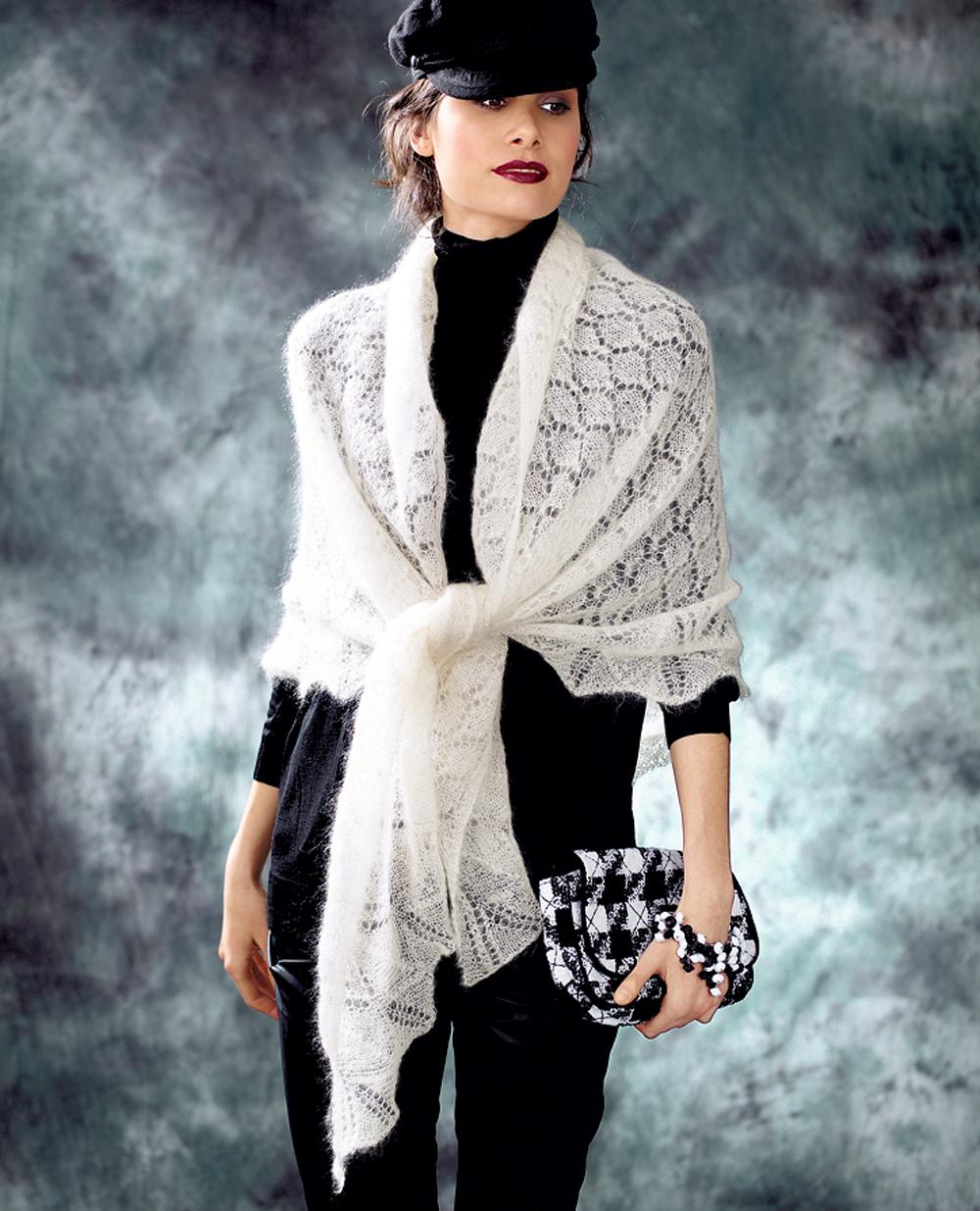 схема шарфа связанного спицами для ребенка