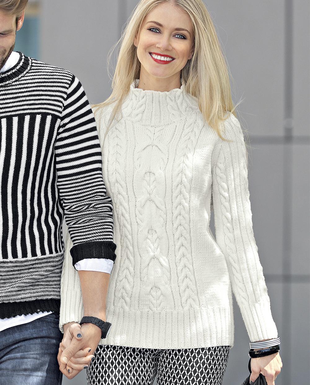 свитер с цветным рисунком схема