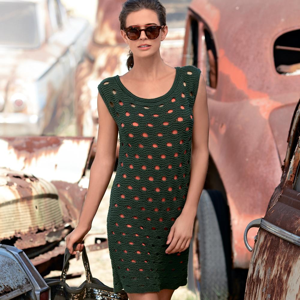 Платье со сквозным узором спицами — восхитительно и пикантно